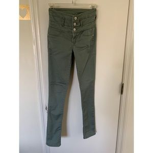 Olive High Waisted Jeans